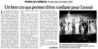 Bilan du 19ème Festival