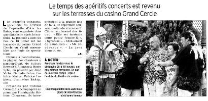 Apéritif concert Valses de Vienne